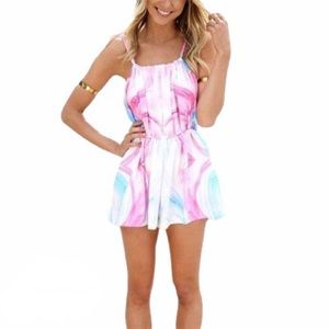 NWT Sabo Skirt Watercolor Lovibond Playsuit Romper